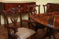 Chippendale dining chair and table set