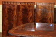 Brown mahogany finish option shown here