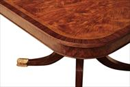 Large mahogany dining table for 12 people