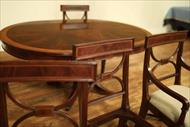 solid mahogany inlaid dining chairs