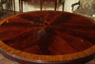Beautiful Pic Cut Round Mahogany Table