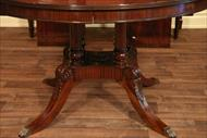 Mahogany finisihed 54 round dining table