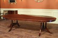 60 round to oval mahogany dining table