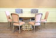 casusal round dining table and chairs