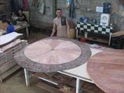 high end furniture, 72 round mahogany dining table, mahogany furniture in Indonesia