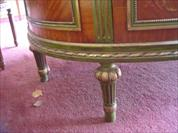 Adams style demilune handpaint decorated