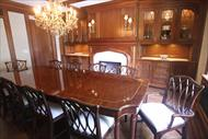 Custom mahogany dining table made in USA