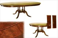 round to oval mahogany pedestal table