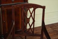 Solid mahogany dining chairs with toning service.