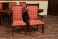 Upholstered dining chair with customer provided fabrics
