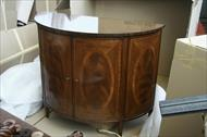 High End Demilune cabinet