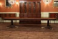 156 inch oversized dining table will seat 14-16 people with all three leaves as shown here.