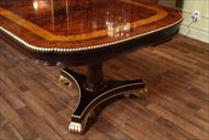 54 inch wide table with robust inlays and carvings