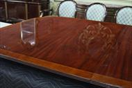 High end dining table with satinwood banding