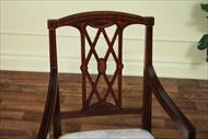 Edwardian style dining chairs with satinwood inlays