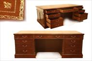 Large Mahogany Executive Desk