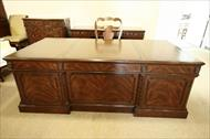 High end mahogany executive desk, perfect for the designer home or office.