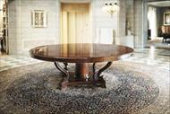round mahogany dining table for 12