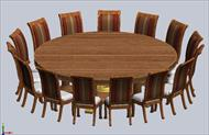 108 round dining table seats 15 comfortably