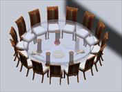 Conduct executive meetings on this oversized round dining table