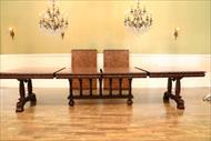Dining table seats 14 people with 2 leaves