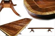 large American made mahogany dining table-Leighton Hall Furniture