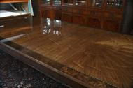 Finish details of High end Henredon dining room table from Grand Providence collection