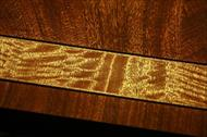 Satinwood inlay details on Henredon Aston court dining table