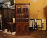 High end traditional and formal mahogany corner cabinet
