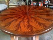 large 84 round Mahogany dining table