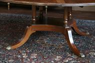 Thomas Sheraton style dining room table pedestals