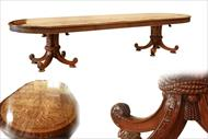 Large burly ash dining table