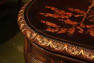 Antique reproduction executive desk for the high end office.  Decorated in the Chinoiserie style.