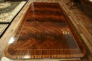 Flame mahogany banquet table