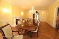 Mahogany dining table shown in newly renovated NJ home