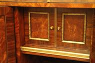 Mahogany secretary door