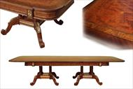 Mahogany and walnut dining room table