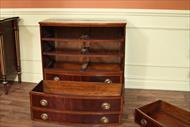 Mahogany chest of drawers with adams style banded drawers