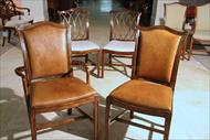 Matching upholstered back chairs