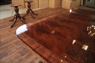 Reproduction antique mahogany dining table