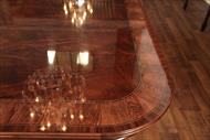 Reproduction antique mahogany conference table with blonde banding