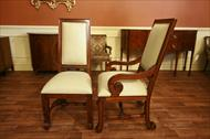 High end mahogany dining chairs