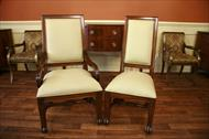 Walnut finisihed upholstered dining chairs