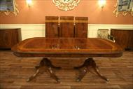 18th century style double pedestal table