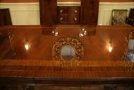 Mahogany double pedestal dining table.