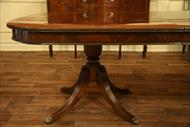 Heavy four leg double pedestal shown on a designer table @ AntiquePurveyor.com