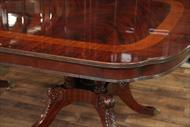 Sheraton furniture has slender legs, fine detailed carvings and are usually finished brown mahogany