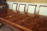 long dining table with flame mahogany Veneers