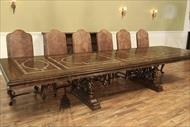 extra large walnut dining table seats 16 people