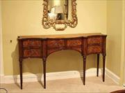 narrow mahogany sideboard for dining room great console table